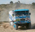 Tatra being first on the Rally Tunisia.